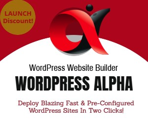 WordPress ALPHA Banner